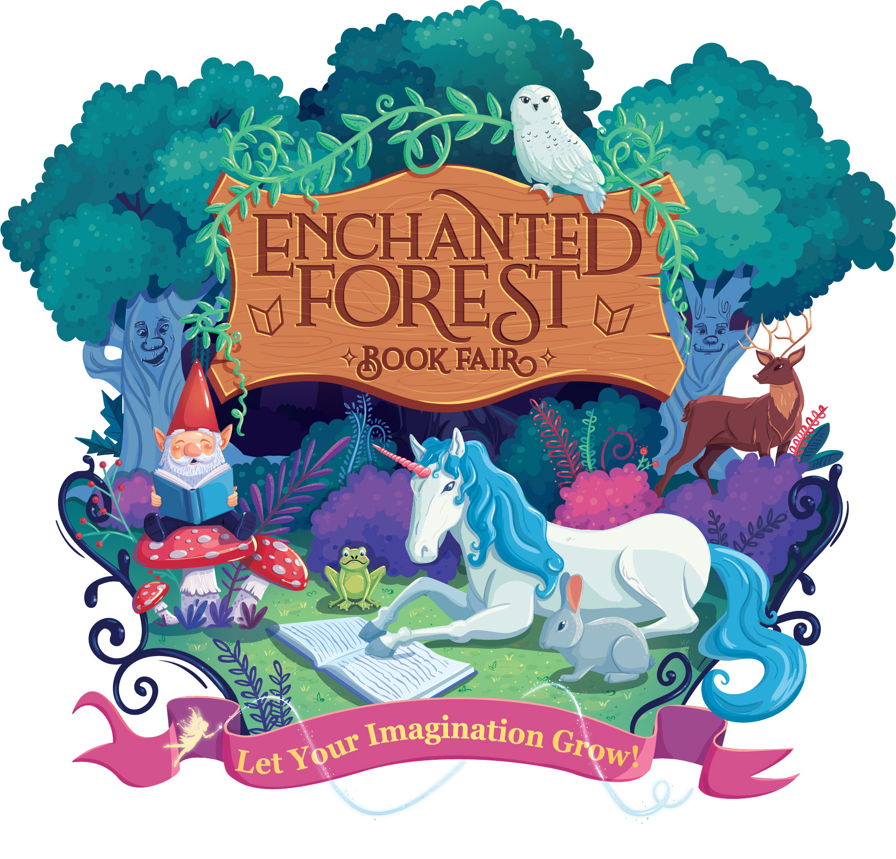 Enchanted Forest Book Fair, Let your imagination Grow!